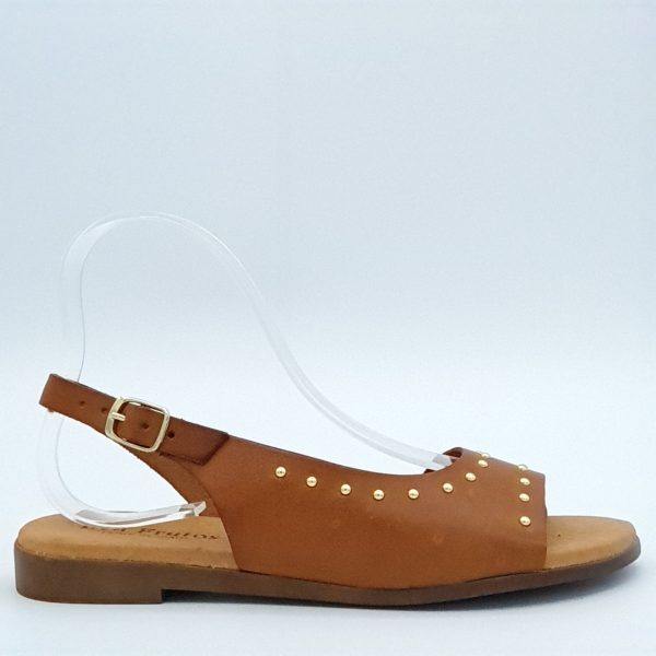 Sandales Eva Frutos en cuir avec clous dorés