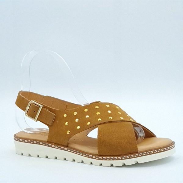 Sandales compensées Kaola camel