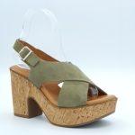 Sandales à talon kaki kaola