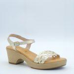 Sandales à talons kaola dorées