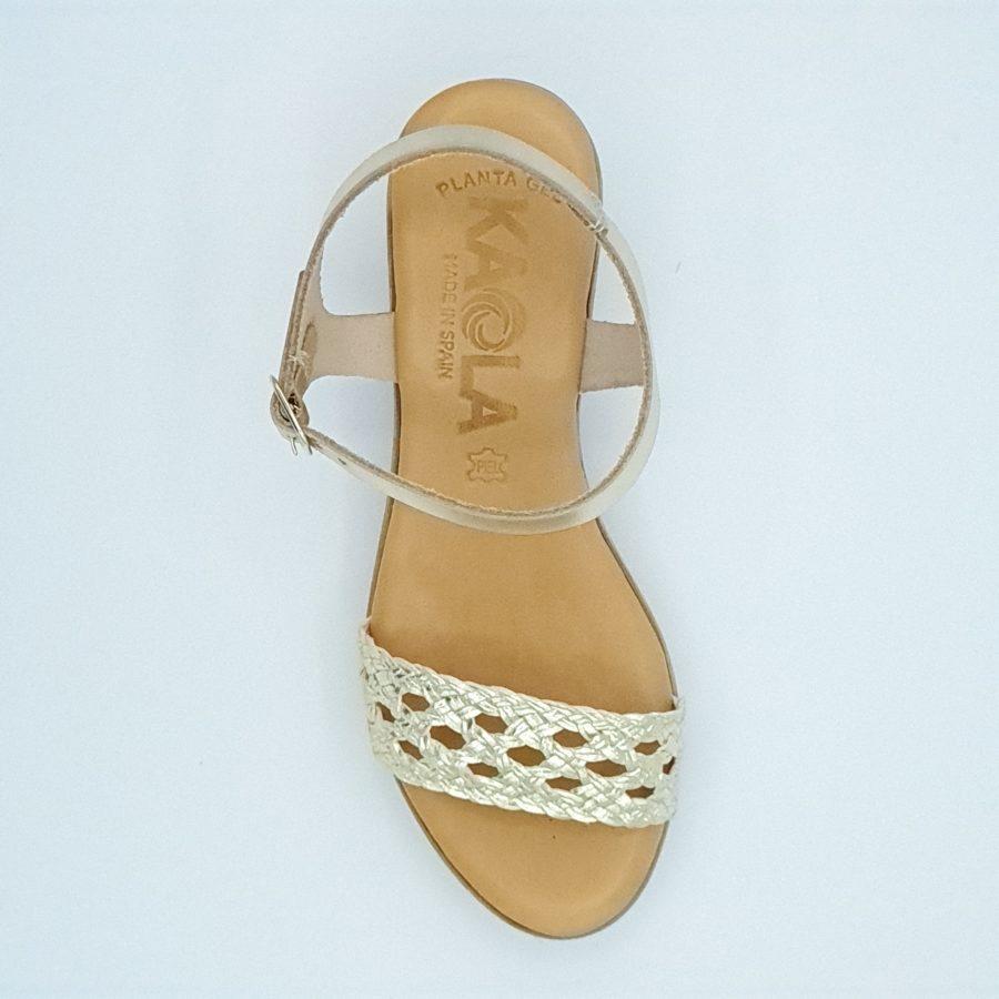 Sandales à talons kaola or irisé